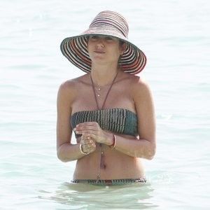 Cathy Hummels Chilling On The Beach – Celeb Nudes