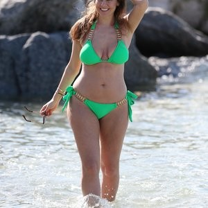 Imogen Thomas Wearing Green And Looking Mean – Celeb Nudes