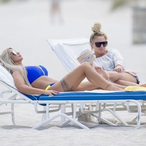 Katie Price Bikini Beach Photos – Celeb Nudes