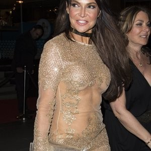 Lizzie Cundy Wearing Incredible See-Through Dress – Celeb Nudes