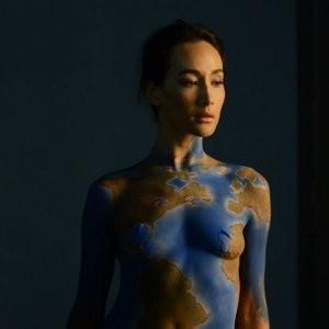 Maggie Q bodypaint pics – Celeb Nudes