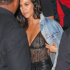 See-Through Photos of Kourtney Kardashian – Celeb Nudes